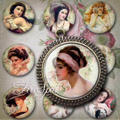 Vintage Painting -Digital Collage S..