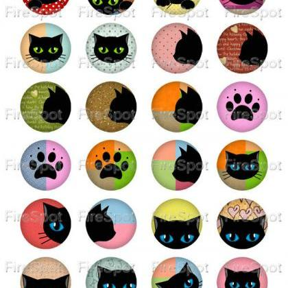 Black Cat,-Digital Collage Sheet 20..