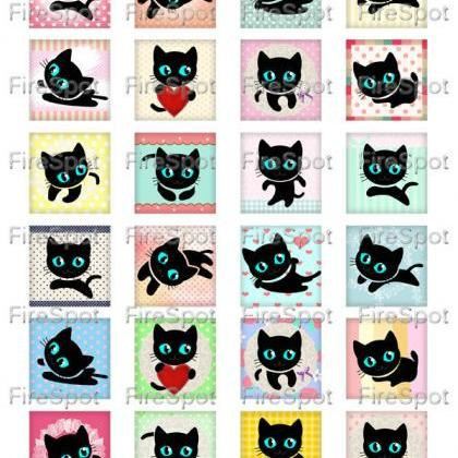 Black Cat - Digital Collage Sheet 1..