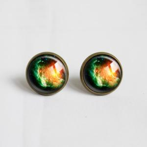 Galaxy universe Stud Earrings.with ..