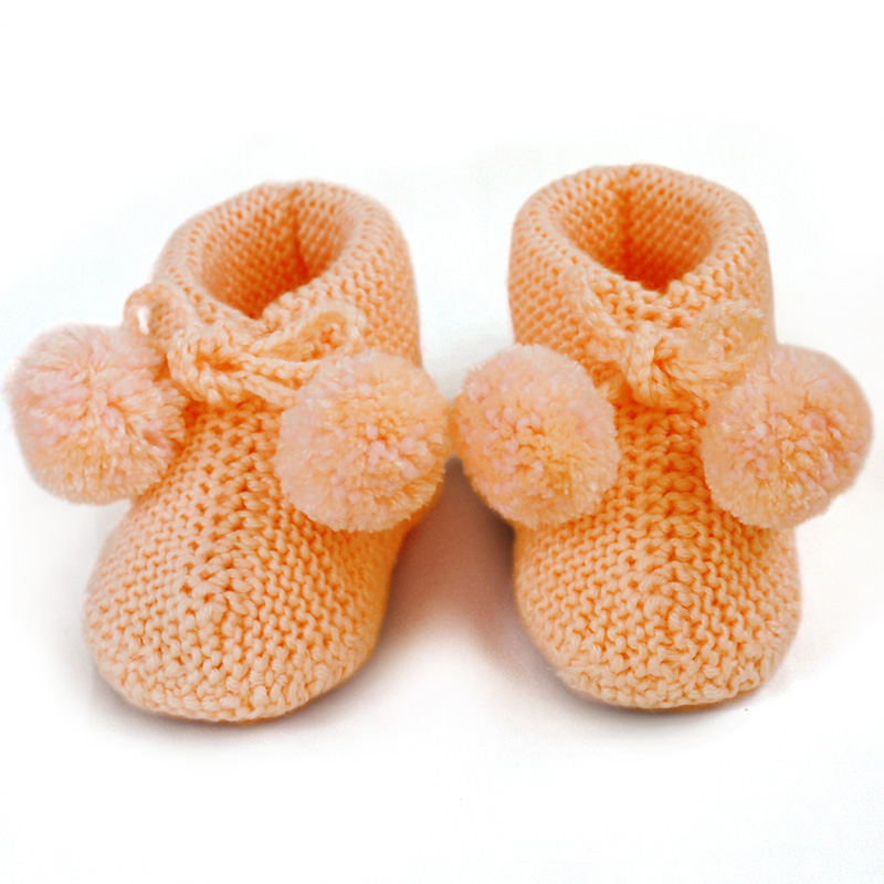 Knitted baby bootie Knit Baby socks newborn booties Wool Knitting shoes Hand WK5