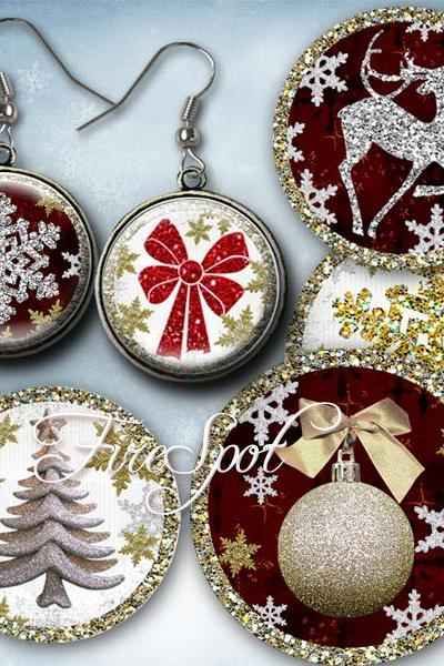Christmas,Xmas,heart,-Digital Collage Sheet 20mm,18mm,16mm,14mm,12mm Round printable images,Pendants,ring,earrings,Scrapbooking