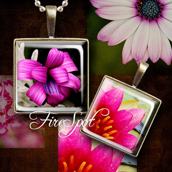 Flowers Plant Picture - Digital Collage Sheet 1.5 inch 1 inch,25 mm,20 mm Square printable images for Glass Pendants Scrapbooking Bottlecaps
