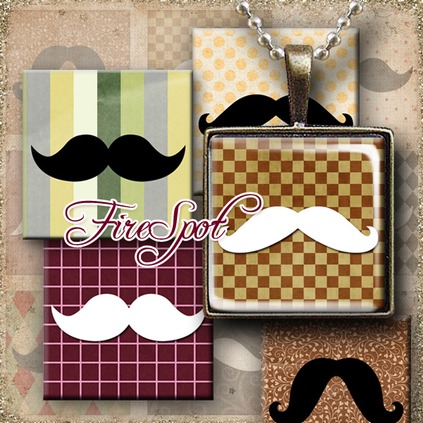 Mustache,Beard,Moustache-Digital Collage Sheet 1.5inch,1 inch,25 mm,20 mm Square printable images.Pendant.Bottlecaps,Scrapbooking