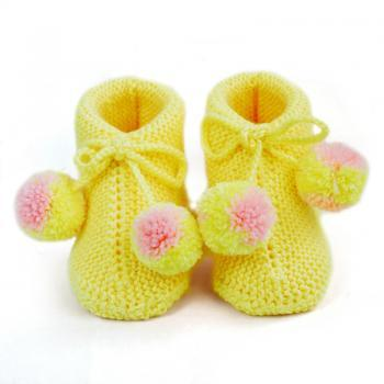 Wool Knitting shoes Knitted baby bootie Hand Knit Baby socks newborn booties WK2