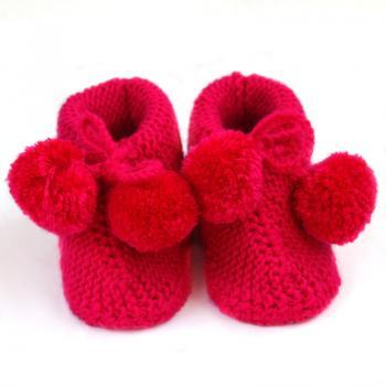 Hand Knit Baby socks Wool Baby Wool Knitting shoes Knitted baby bootie WK4